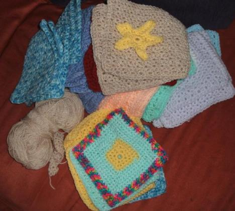 Patchwork squares for afghan